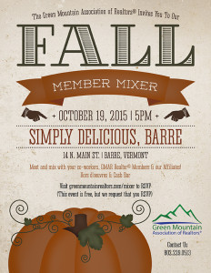 You're Invited: GMAR Fall Mixer